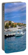 Yachting Harbor Of Hvar Island Portable Battery Charger