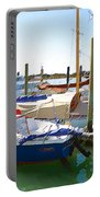 Yachts In A Port 4 Portable Battery Charger