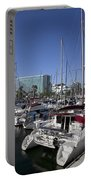 Yachts In Shoreline Marina Long Beach California Portable Battery Charger