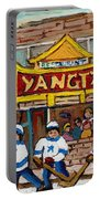 Yangtze Restaurant With Van Horne Bagel And Hockey Portable Battery Charger