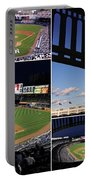 Yankee Stadium Collage Portable Battery Charger by Allen Beatty
