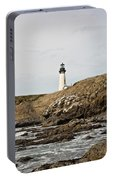 Yaquina Head Lighthouse From The Beach Portable Battery Charger