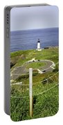 Yaquina Lighthouse From Salal Hill Trail  Portable Battery Charger