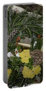 Yarrow And Lotus Wreath Squared Portable Battery Charger