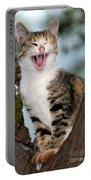 Yawning Cat Portable Battery Charger