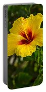Yellow - Beautiful Hibiscus Flowers In Bloom On The Island Of Maui. Portable Battery Charger