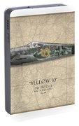 Yellow 10 Focke-wulf Fw190d - Map Background Portable Battery Charger