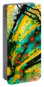 Yellow Abstract Portable Battery Charger by Sharon Cummings