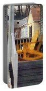 Yellow Adirondack Rocking Chairs Portable Battery Charger