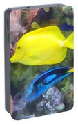 Yellow And Blue Tang Fish Portable Battery Charger