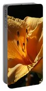 Yellow And Cream Day Lily Portable Battery Charger