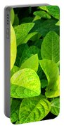 Yellow And Green Leaves Portable Battery Charger