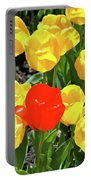 Yellow And One Red Tulip Portable Battery Charger