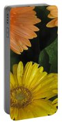 Yellow And Peach Portable Battery Charger