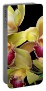 Yellow And Pink Orchids Portable Battery Charger