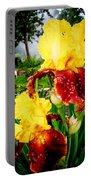 Yellow And Purple Iris Portable Battery Charger