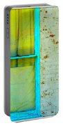 Art Deco Lamp And Yellow And Turquoise Window Portable Battery Charger
