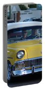 Yellow And White Classic Chevy Portable Battery Charger