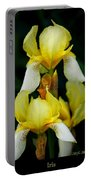 Yellow And White Irises Portable Battery Charger