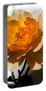 Yellow And White Rose Portable Battery Charger
