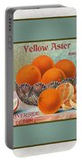 Yellow Aster Brand Oranges Vertical Portable Battery Charger