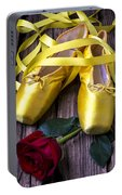 Yellow Ballet Shoes Portable Battery Charger