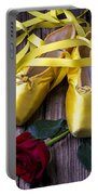 Yellow Ballet Shoes Portable Battery Charger by Garry Gay
