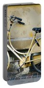 Yellow Bicycle In Copenhagen Portable Battery Charger