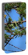 Yellow Bird In A Juniper Tree Portable Battery Charger