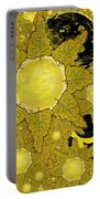 Yellow Bird Sings In The Sunflowers Portable Battery Charger