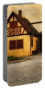Yellow Building And Wall In Rothenburg Germany Portable Battery Charger
