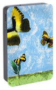 Yellow Butterflies - Spring Art By Sharon Cummings Portable Battery Charger