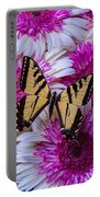 Yellow Butterfly Resting Portable Battery Charger