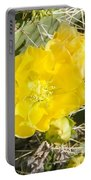 Yellow Cactus Blooms And Buds Portable Battery Charger