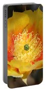 Yellow Cactus Flower Square Portable Battery Charger