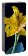 Yellow Canna Flower Portable Battery Charger