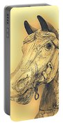 Yellow Carousel Horse Portable Battery Charger