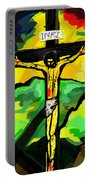 Yellow Christ  After Gauguin Portable Battery Charger
