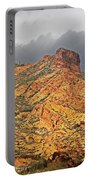 Yellow Colored Rock Along The Apache Trail Portable Battery Charger