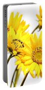 Yellow Country Wildflowers Portable Battery Charger