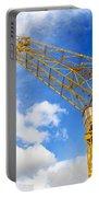 Yellow Crane And Sky Portable Battery Charger