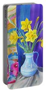 Yellow Daffodils Portable Battery Charger