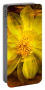 Yellow Dahlia Under Water Portable Battery Charger