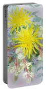 Yellow Dahlias And Peruvian Lilies Portable Battery Charger