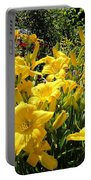 Yellow Daylilies Portable Battery Charger