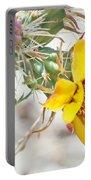 Yellow Desert Flower Portable Battery Charger