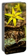 Yellow Dogtooth Trout Lilly Portable Battery Charger
