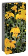Yellow Echinacea Portable Battery Charger