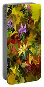 Yellow Fantasy Flower Garden Portable Battery Charger