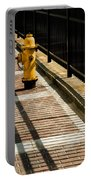 Yellow Fire Hydrant - Pittsfield - Massachusetts Portable Battery Charger